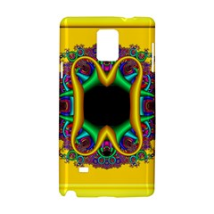 Fractal Rings In 3d Glass Frame Samsung Galaxy Note 4 Hardshell Case