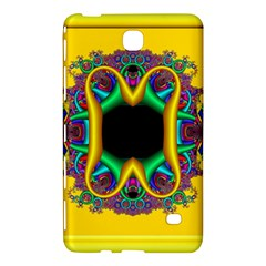 Fractal Rings In 3d Glass Frame Samsung Galaxy Tab 4 (7 ) Hardshell Case