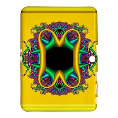 Fractal Rings In 3d Glass Frame Samsung Galaxy Tab 4 (10.1 ) Hardshell Case