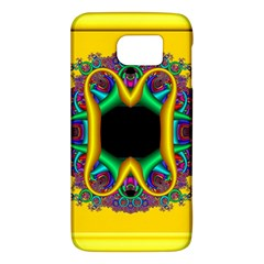 Fractal Rings In 3d Glass Frame Galaxy S6