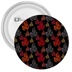 Leaves Pattern Background 3  Buttons