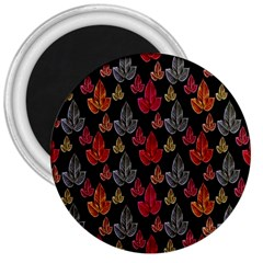 Leaves Pattern Background 3  Magnets
