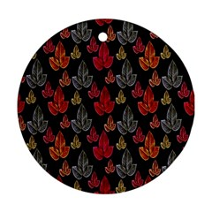 Leaves Pattern Background Ornament (Round)