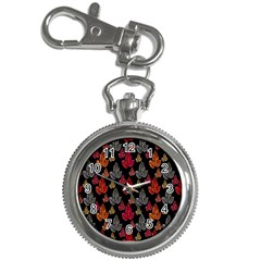 Leaves Pattern Background Key Chain Watches