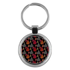 Leaves Pattern Background Key Chains (Round)