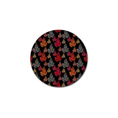 Leaves Pattern Background Golf Ball Marker (4 Pack)