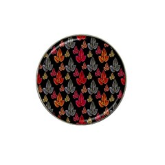 Leaves Pattern Background Hat Clip Ball Marker