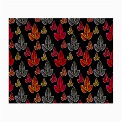Leaves Pattern Background Small Glasses Cloth