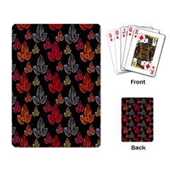 Leaves Pattern Background Playing Card