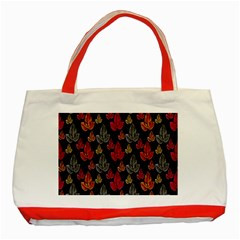Leaves Pattern Background Classic Tote Bag (Red)
