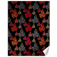 Leaves Pattern Background Canvas 36  X 48
