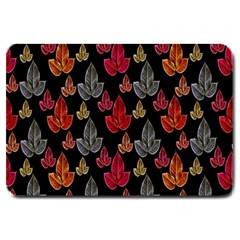 Leaves Pattern Background Large Doormat