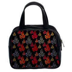 Leaves Pattern Background Classic Handbags (2 Sides)