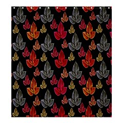 Leaves Pattern Background Shower Curtain 66  X 72  (large)