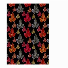 Leaves Pattern Background Small Garden Flag (Two Sides)