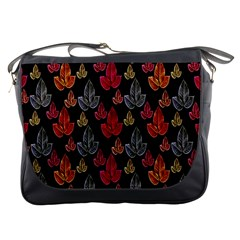 Leaves Pattern Background Messenger Bags