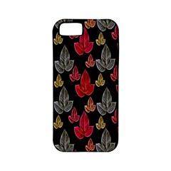 Leaves Pattern Background Apple Iphone 5 Classic Hardshell Case (pc+silicone)