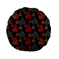 Leaves Pattern Background Standard 15  Premium Round Cushions