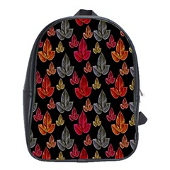 Leaves Pattern Background School Bags (XL)