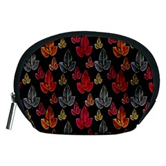 Leaves Pattern Background Accessory Pouches (Medium)