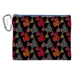 Leaves Pattern Background Canvas Cosmetic Bag (XXL)