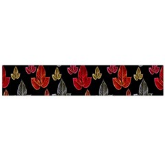Leaves Pattern Background Flano Scarf (Large)