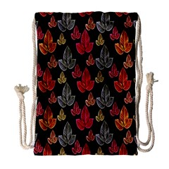 Leaves Pattern Background Drawstring Bag (large)