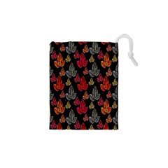 Leaves Pattern Background Drawstring Pouches (xs)