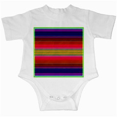 Fiestal Stripe Bright Colorful Neon Stripes Background Infant Creepers