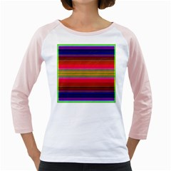Fiestal Stripe Bright Colorful Neon Stripes Background Girly Raglans