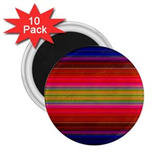 Fiestal Stripe Bright Colorful Neon Stripes Background 2.25  Magnets (10 pack)