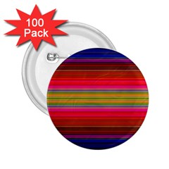 Fiestal Stripe Bright Colorful Neon Stripes Background 2.25  Buttons (100 pack)