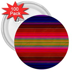 Fiestal Stripe Bright Colorful Neon Stripes Background 3  Buttons (100 Pack)
