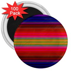 Fiestal Stripe Bright Colorful Neon Stripes Background 3  Magnets (100 pack)