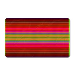 Fiestal Stripe Bright Colorful Neon Stripes Background Magnet (Rectangular)