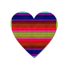 Fiestal Stripe Bright Colorful Neon Stripes Background Heart Magnet