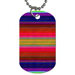 Fiestal Stripe Bright Colorful Neon Stripes Background Dog Tag (one Side)