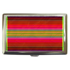 Fiestal Stripe Bright Colorful Neon Stripes Background Cigarette Money Cases