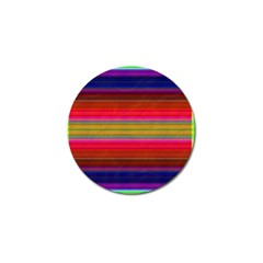 Fiestal Stripe Bright Colorful Neon Stripes Background Golf Ball Marker (10 Pack)