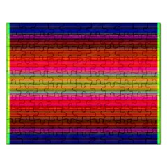 Fiestal Stripe Bright Colorful Neon Stripes Background Rectangular Jigsaw Puzzl
