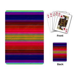 Fiestal Stripe Bright Colorful Neon Stripes Background Playing Card