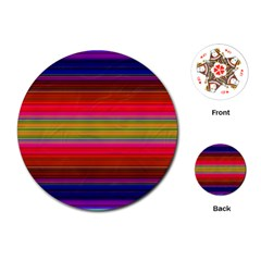 Fiestal Stripe Bright Colorful Neon Stripes Background Playing Cards (round)