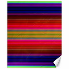 Fiestal Stripe Bright Colorful Neon Stripes Background Canvas 16  X 20