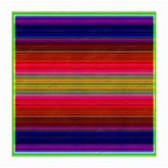 Fiestal Stripe Bright Colorful Neon Stripes Background Medium Glasses Cloth (2 Side)