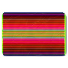 Fiestal Stripe Bright Colorful Neon Stripes Background Large Doormat