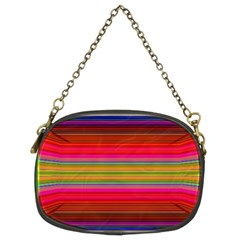Fiestal Stripe Bright Colorful Neon Stripes Background Chain Purses (two Sides)