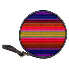 Fiestal Stripe Bright Colorful Neon Stripes Background Classic 20 Cd Wallets