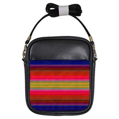 Fiestal Stripe Bright Colorful Neon Stripes Background Girls Sling Bags
