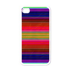 Fiestal Stripe Bright Colorful Neon Stripes Background Apple Iphone 4 Case (white)