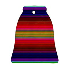 Fiestal Stripe Bright Colorful Neon Stripes Background Ornament (bell)
